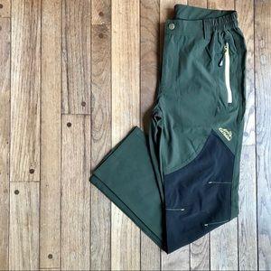 Kaisike Green & Black Active Hiking Pants